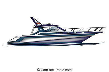 Luxury Yacht , vector