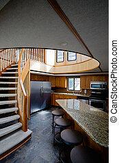 Luxury yacht interior - A luxury yacht interior - kitchen...
