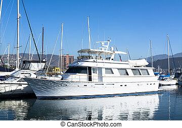 Luxury yacht - A private luxury yacht docked in Ensenada...