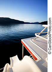 Luxury Yacht - A slide off a luxury yacht into a beautiful...
