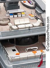 luxury yacht - beautiful luxury yacht boat with designer...