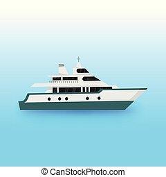 Luxury Yacht Transportation Illustration