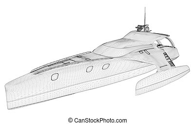 Luxury Yacht Vector 08.eps