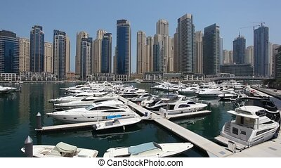 Luxury yachts at Dubai Marina