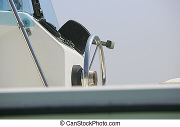 Luxury yatch on the sea detail