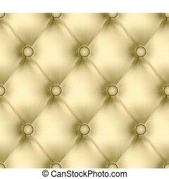 luxus, buttoned, leder, pattern., eps, 8
