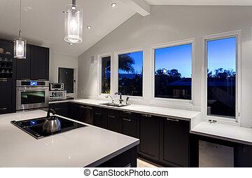 modern house luxus kueche. Black Bedroom Furniture Sets. Home Design Ideas