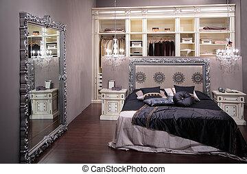 luxus, schalfzimmer