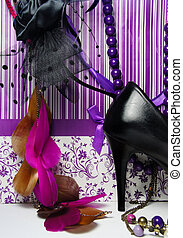 luxus, shoppen, -, glanz, groß, accessoirs