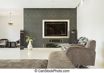 luxus, wohnzimmer