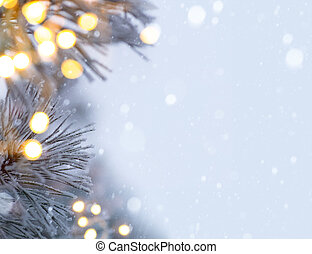 luz, árbol, navidad