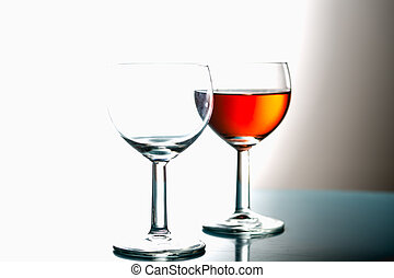 luz, óculos, fundo, vinho