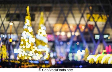 luz, abstratos, árvore, obscurecido, bokeh, fundo, noturna, natal