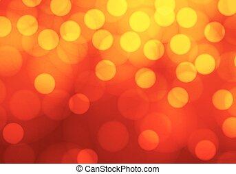 luz, abstratos, amarela, bokeh, luxo, vermelho