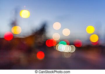 luz, abstratos, blurry