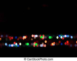 luz, abstratos, bokeh