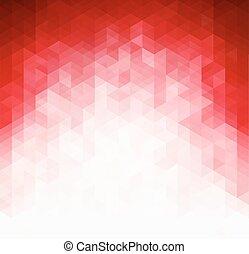 luz, abstratos, modelo, fundo, vermelho