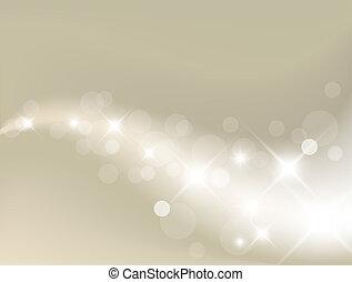 luz, abstratos, prata, fundo