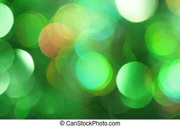 luz, abstratos, verde