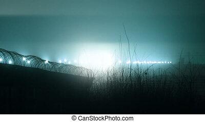 luz, aeroporto, sistema, aterragem