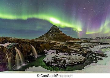 luz, aurora, norteño, borealis