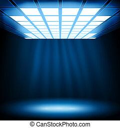 luz azul, abstratos, fundo