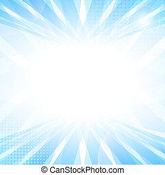 luz azul, abstratos, liso, experiência., perspectiva