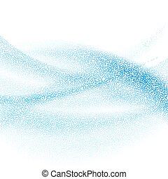 luz azul, abstratos, pontilhado, fundo