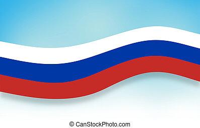 luz azul, cielo claro, plano de fondo, bandera, rusia