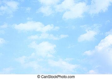luz azul, cielo, primavera