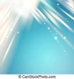 luz azul, encima, cielo, resumen, fondo.
