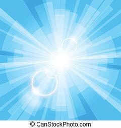 luz azul, fundo