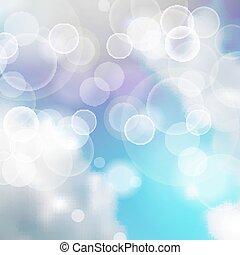luz azul, fundo, luzes, branca, vigas, festivo, céu