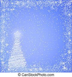 luz azul, navidad, plano de fondo
