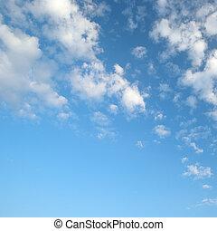 luz azul, nuvens, céu