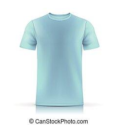 luz azul, plantilla, camiseta