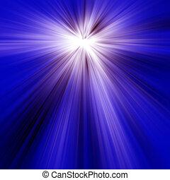 luz azul, rayos