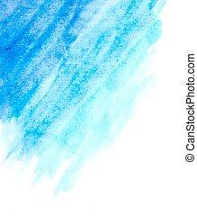 luz azul, resumen, acuarela, fondo., vector