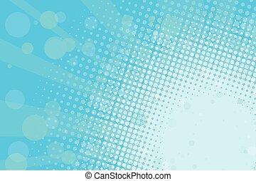 luz azul, retro, plano de fondo, halftone