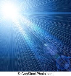 luz azul, viga