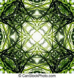 luz, bambu, verde, leaves., brilho