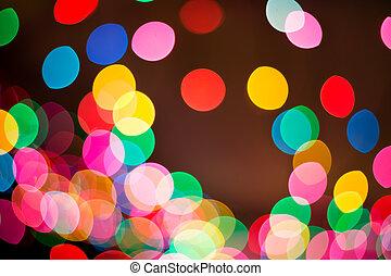 luz, bokeh, abstrac, plano de fondo, mancha