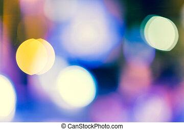 luz, bokeh, calle, plano de fondo, vendimia