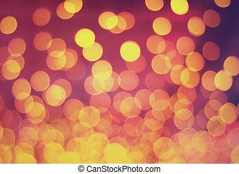 luz, bokeh, feriado, plano de fondo, vendimia