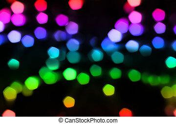 luz, bokeh, fundo
