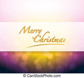 luz, bokeh, natal, feliz, sinal