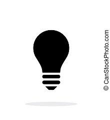luz, branca, ícone, bulbo, experiência.