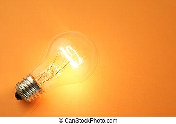 luz brillante, bombilla