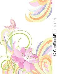 luz brillante, colorido, flor, plano de fondo