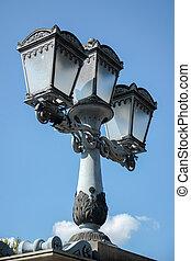 luz, budapest, rua, antigas